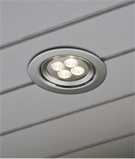 Recessed LED Soffit Light in Aluminium - IP44