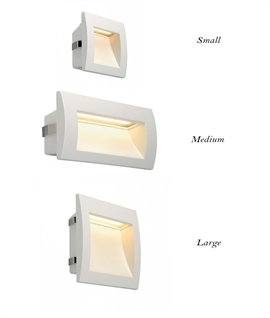 Mains Exterior LED Recessed Wall Light