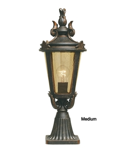 Regal Bronze Pedestal Lantern
