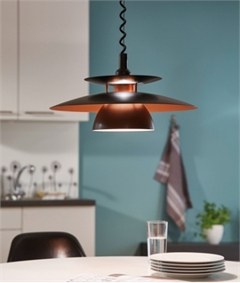 Rise and Fall Metal Scandinavian Pendant