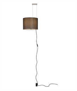 Rise and Fall Plug-in Black Pendant