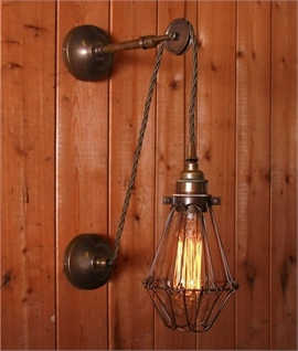 Vintage Cage Off-Set Wall Light