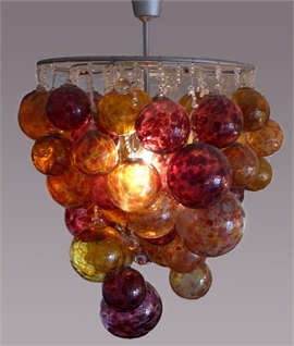 Roast Chandelier - Amber Ruby Glass