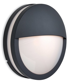 Exterior Round Wall Light With Eyelid Detail