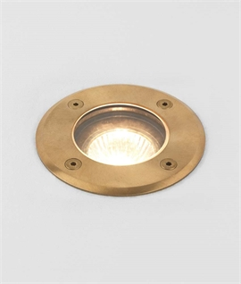 Brass Ground Light - Round or Square