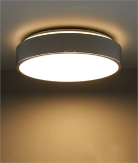 IP44 LED Flush Round Chrome Ceiling Light