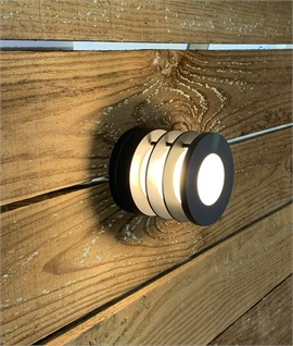 Round Grey IP54 Exterior Layered Light