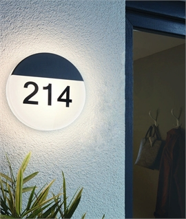 Illuminated Round House Number Bulkhead - LED