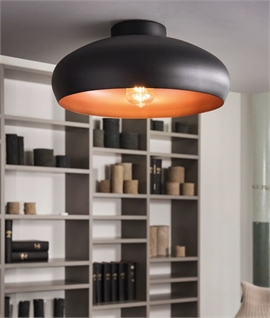 Round Semi Flush Two-Tone Ceiling Light