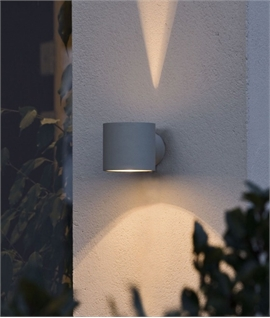 Cylindrical Wall Light with Fan Effect