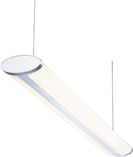 Contemporary Silver Suspended Fluorescent Light