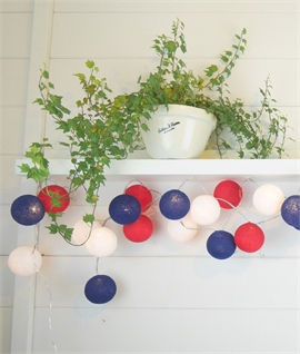 20 LED Rule Britannia String & Ball Lights