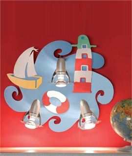 Childrens Colourful Seaside Themed Wall Light