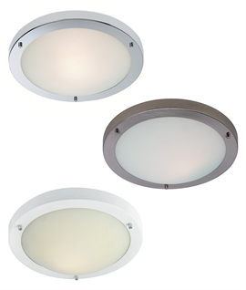 Simple Flush Ceiling Light - 3 Finishes Available
