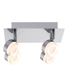 Satin Nickel & Glass Adjustable LED Spot Plate