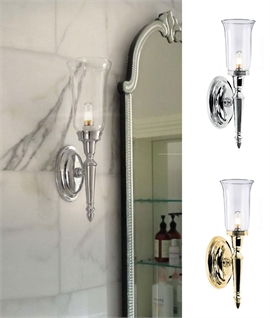 Wall Sconce Light For Bathrooms - Clear Glass
