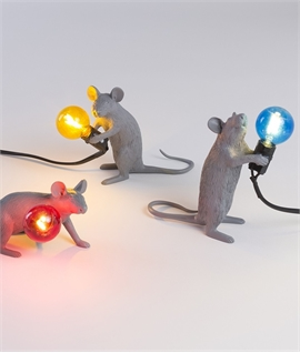 Grey Mouse Table Lamp with LED Lamp