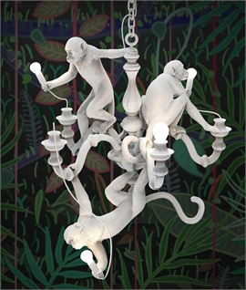 Monkey Chandelier - Black or White