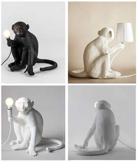 Monkey Table Light with LED Lamp