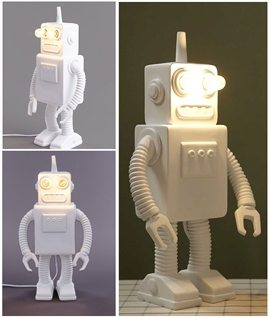 Seletti Robot Lamp - Illuminated Eyes