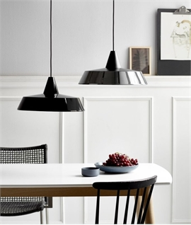 Shallow Depth Metal Pendant - 4 Finishes