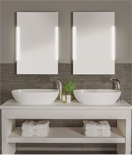 Shallow Profile IP44 Illuminated Mirror