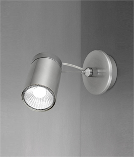 Brushed Aluminium Single Spotlight