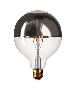 E27 7w Dimmable LED Crown 125mm Globe Lamp