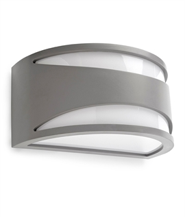 Stylish Impact Resistant Exterior Wall Light - Half Disc