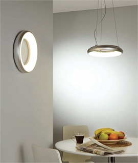 Silver Halo Flush Wall or Ceiling Light