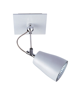 White Stem-mounted Adjustable Spotlight for Wall or Ceiling
