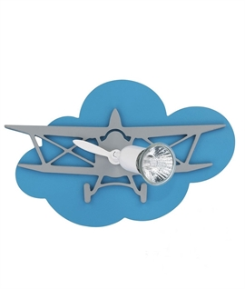 Childrens Adjustable 3D Aeroplane Wall Light - 3 Sizes