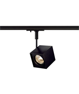 Track lighting lighting styles cube shaped spot for single circuit track mozeypictures Image collections