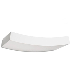 Gently Curved Plaster Wall Uplight - Dimmable Halogen