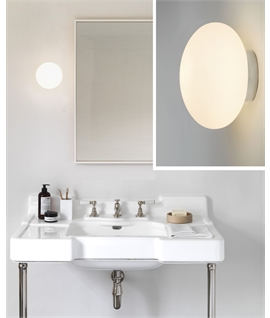 Compact Opal Glass Globe Light for Bathroom Walls