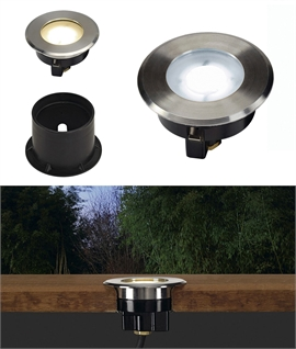 Straight to Mains Stainless Steel LED Ground Light