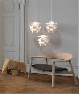 Danish Designed Flower Pendant with 4m Flex ... & Scandinavian Lights | Lighting Styles The Lighting Specialists azcodes.com