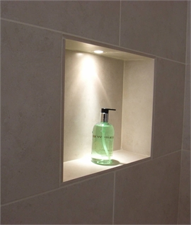 Small Recessed IP65 Niche Light - Shallow Profile Design