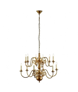 Solid Brass Decorative Flemish Chandelier