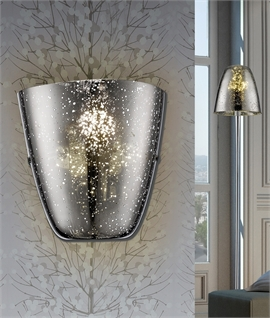 Speckled Mirror Glass Wall Light - Two Colours