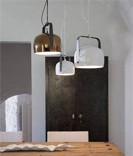 Karman Bag 1 Ceramic Dome Pendant In Two Sizes