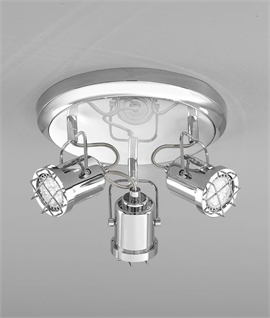 Chrome Round Ceiling Spotlight with LED Lamps