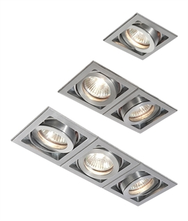 Modular Downlight Single, Dual or Triple - White or Aluminium