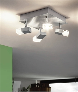 Square Aluminium Light with LED Rectangular Spots