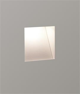 Square Trimless Plaster Wall Light