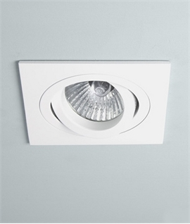 Square 12v Downlight - White or Brushed Aluminium