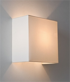 Simple Fabric Up & Down Wall Light - Oyster or White Shades