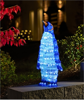 Large Standing LED Acrylic Christmas Penguin
