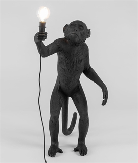 Standing Outdoor Monkey Lamp - Black or White