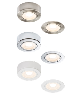 Straight to Mains LED Under Cabinet Light - surface or recessed mounting